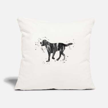 "Black Labrador Dog Labrador, Black labrador, watercolor Labrador - Throw Pillow Cover 18"" x 18"""