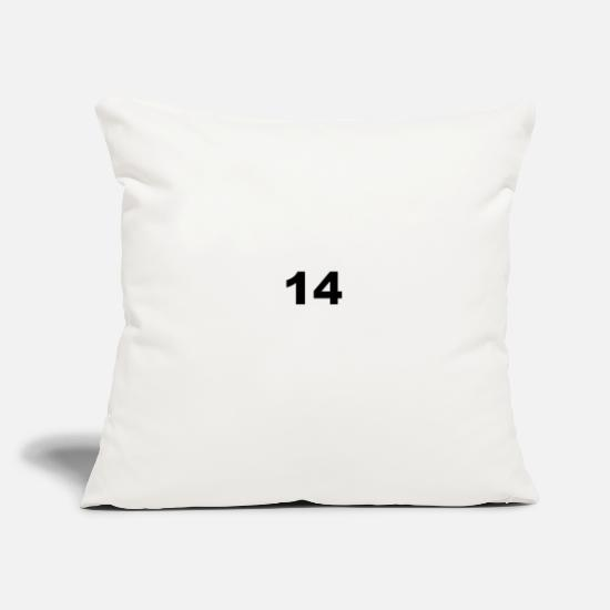 "Cipher Pillow Cases - 14 - Throw Pillow Cover 18"" x 18"" natural white"
