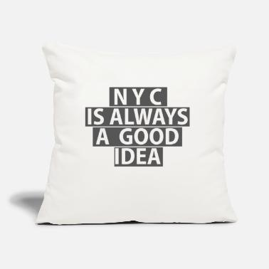 "NYC transparent - Throw Pillow Cover 18"" x 18"""