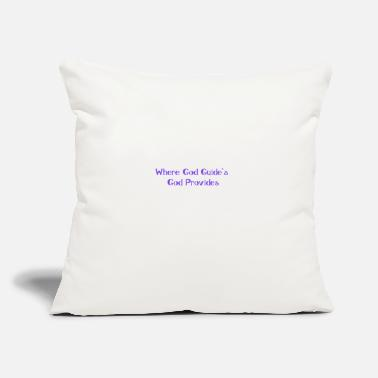 "Jesus GOD PROVIDES - Throw Pillow Cover 18"" x 18"""