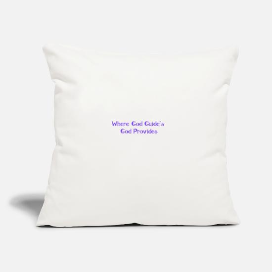 "True Pillow Cases - GOD PROVIDES - Throw Pillow Cover 18"" x 18"" natural white"