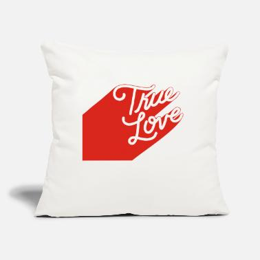 "True Love True Love - Throw Pillow Cover 18"" x 18"""