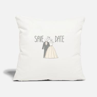 "Date save the date - Throw Pillow Cover 18"" x 18"""