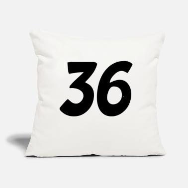 "Moneygrubbing 36 number - Throw Pillow Cover 18"" x 18"""