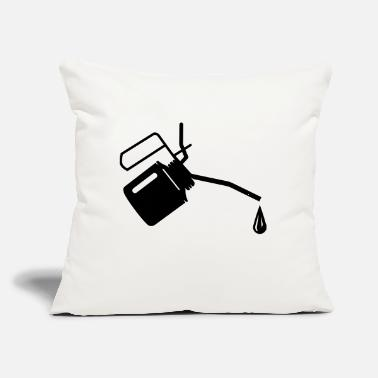 "Oil An oil can and oil drop - Throw Pillow Cover 18"" x 18"""