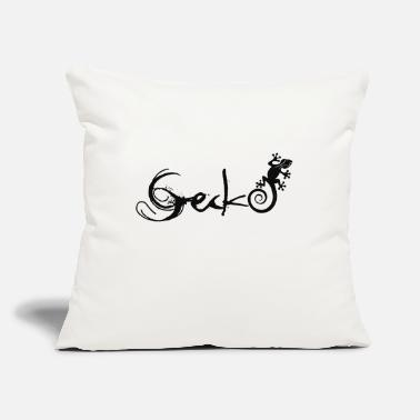 "Gecko Gecko - Throw Pillow Cover 18"" x 18"""