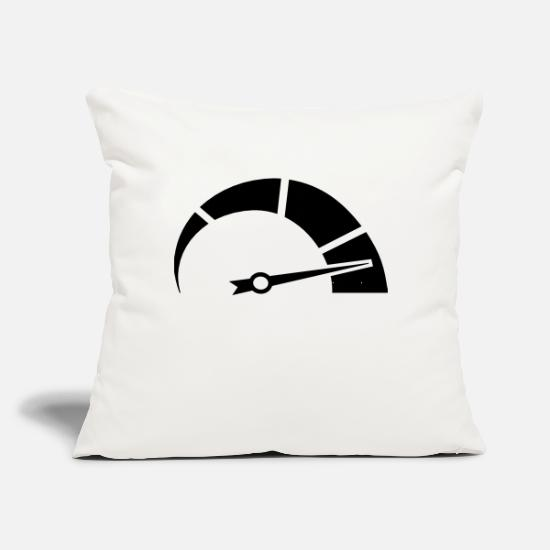 "Motorsport Pillow Cases - Full Speed - Throw Pillow Cover 18"" x 18"" natural white"