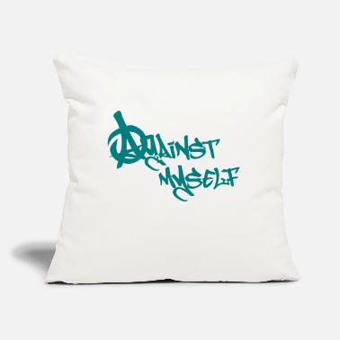 "Against Against myself - Throw Pillow Cover 18"" x 18"""