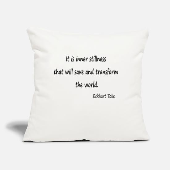"Save The World Pillow Cases - Inner stillness. - Throw Pillow Cover 18"" x 18"" natural white"