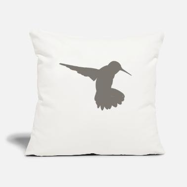 "Hum humming-bird - Throw Pillow Cover 18"" x 18"""