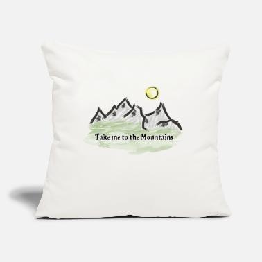 "Mountains Mountain mountaineering mountains mountain world - Throw Pillow Cover 18"" x 18"""