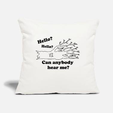 "Hello? Hello? Can Anybody Hear Me? - Fallen Tree - Throw Pillow Cover 18"" x 18"""