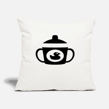 "Beak beak cup - Throw Pillow Cover 18"" x 18"""
