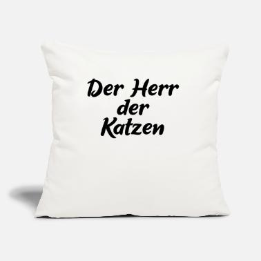 "Der Der Herr der Katzen - Throw Pillow Cover 18"" x 18"""