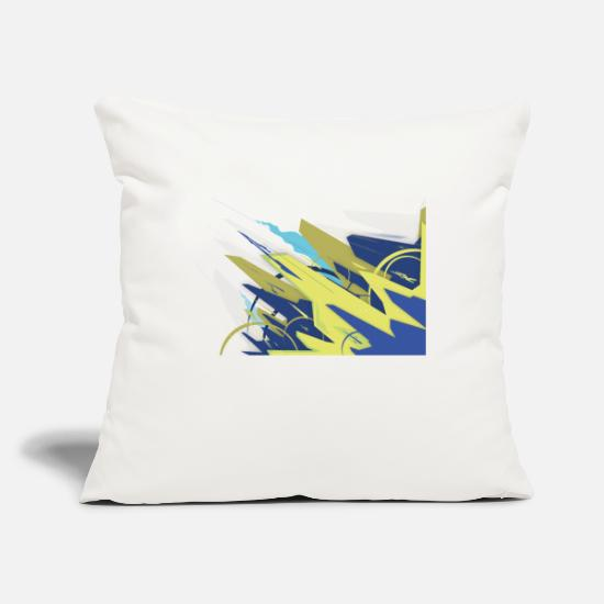 "Yellow Pillow Cases - Geometric forms - Throw Pillow Cover 18"" x 18"" natural white"