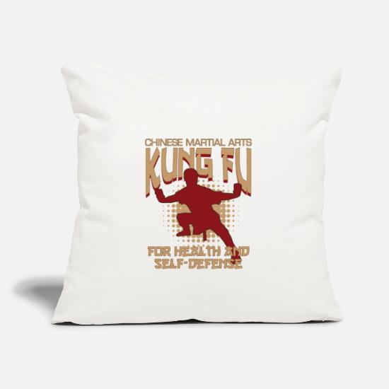 "Shaolin Pillow Cases - Kung Fu Martial Arts Self Defense Gift Shaolin - Throw Pillow Cover 18"" x 18"" natural white"