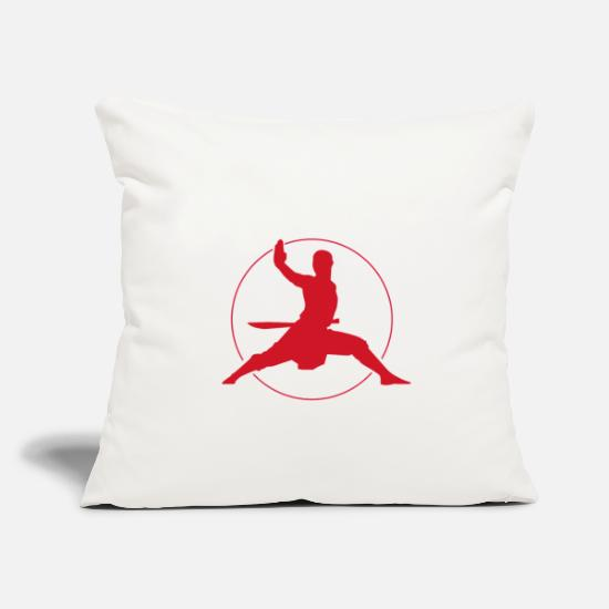 "Kung Fu Pillow Cases - Kung Fu - Throw Pillow Cover 18"" x 18"" natural white"