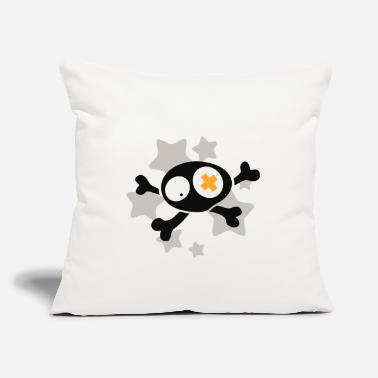 "Asterisk Skull with asterisks - Throw Pillow Cover 18"" x 18"""