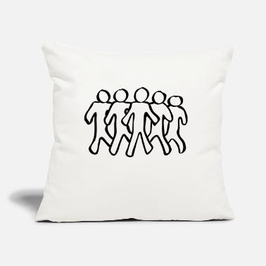 "Group Group - Throw Pillow Cover 18"" x 18"""