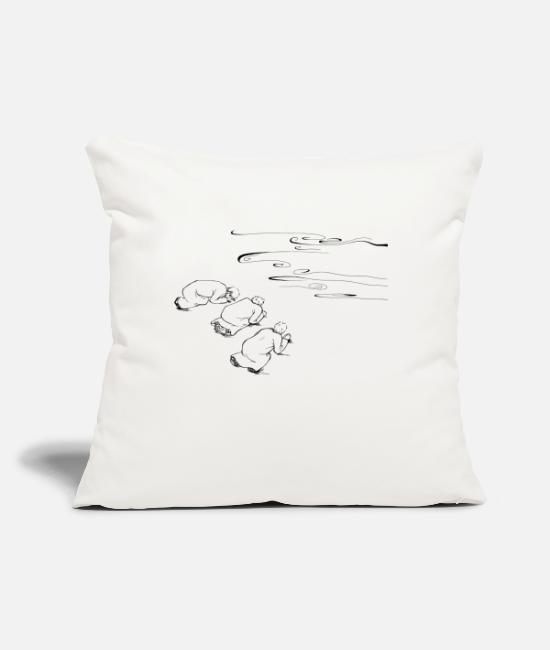 "Water Pillow Cases - 12 Matthew 17:19 03 - Throw Pillow Cover 18"" x 18"" natural white"
