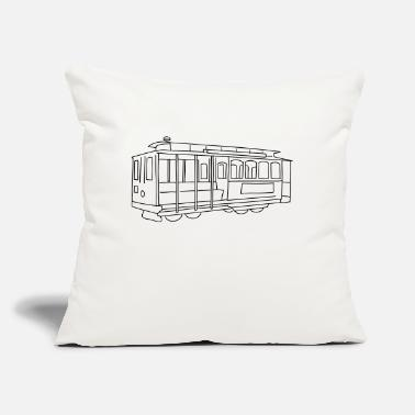 "Cable Car San Francisco Cable Car - Throw Pillow Cover 18"" x 18"""