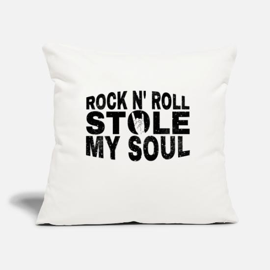 "Birthday Pillow Cases - Rock and Roll Rocknroll guitar rock n roll gift - Throw Pillow Cover 18"" x 18"" natural white"