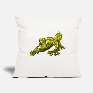 "Infectious The Infectious Frog - Throw Pillow Cover 18"" x 18"""