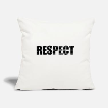 "Respect Black and White flag - Throw Pillow Cover 18"" x 18"""