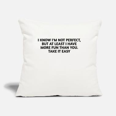 "Not Perfect NOT PERFECT - Throw Pillow Cover 18"" x 18"""