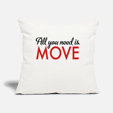 "Move move - Throw Pillow Cover 18"" x 18"""