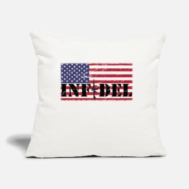 "American Flag In Distress infidel distressed American Flag - Throw Pillow Cover 18"" x 18"""