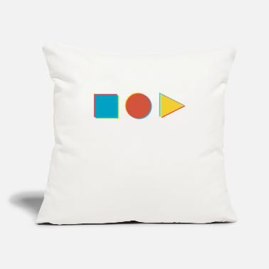 "Shape in shape - Throw Pillow Cover 18"" x 18"""