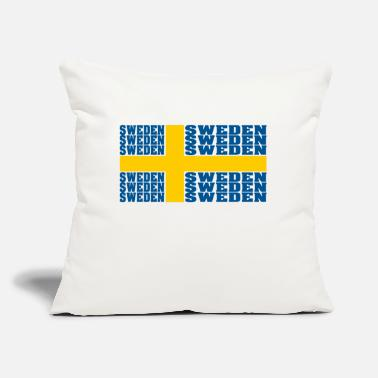 "Sweden Sweden sweden sweden national flag - Throw Pillow Cover 18"" x 18"""