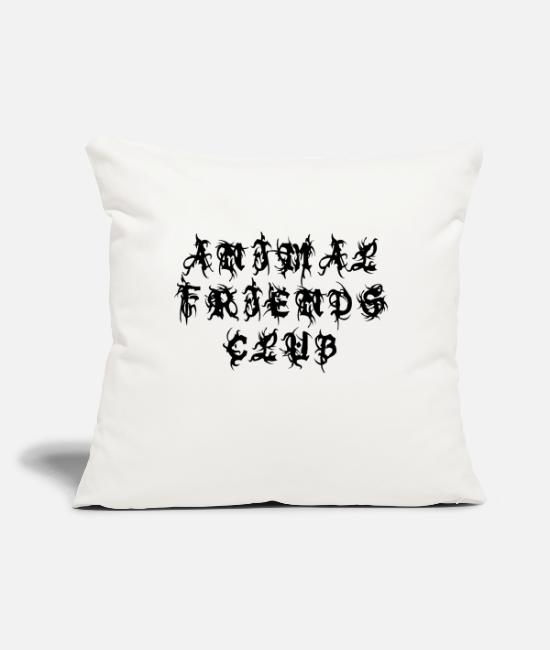 "Animal World Pillow Cases - Animal Friends Club - Sayings Statement Gift Ideas - Throw Pillow Cover 18"" x 18"" natural white"