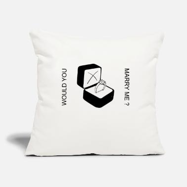 "Bagu MARRY ME - Throw Pillow Cover 18"" x 18"""