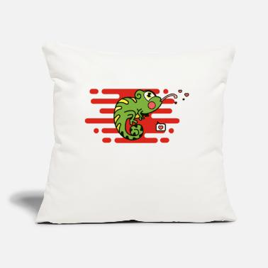 "Stick Out Chameleons stick out the tongue - Throw Pillow Cover 18"" x 18"""