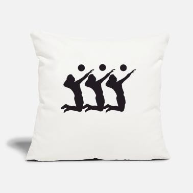 "Volley volley guy - Throw Pillow Cover 18"" x 18"""