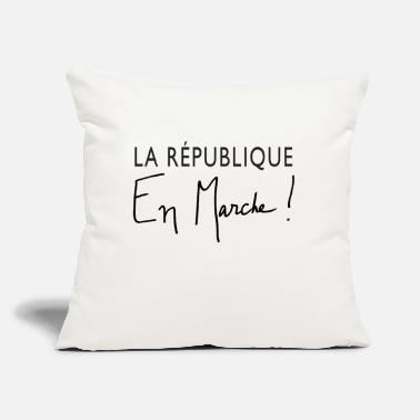 "Le Have A Party La Republique En Marche! - Throw Pillow Cover 18"" x 18"""