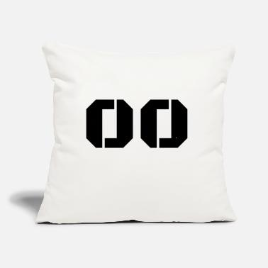 "Jersey Number Jersey Number 00 - Throw Pillow Cover 18"" x 18"""