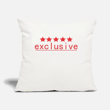 "Exclusive exclusive - Throw Pillow Cover 18"" x 18"""