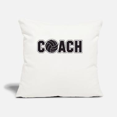 "Volley volley coach - Throw Pillow Cover 18"" x 18"""