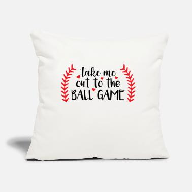 "Game Ball Take me out to the ball game - Throw Pillow Cover 18"" x 18"""