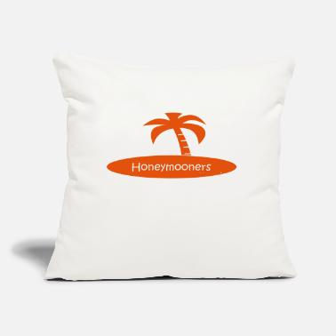 "Honeymoon honeymooners (wedding, honeymoon) - Throw Pillow Cover 18"" x 18"""