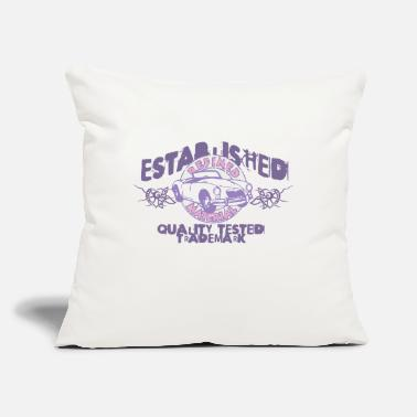 "Established established - Throw Pillow Cover 18"" x 18"""