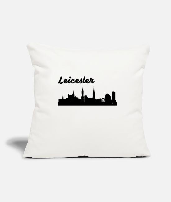 "Skyline Pillow Cases - Leicester Skyline - Throw Pillow Cover 18"" x 18"" natural white"