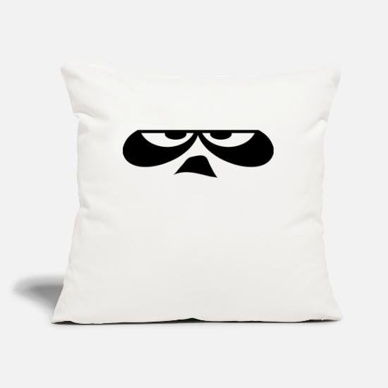"Panda Pillow Cases - Agro Expression - Throw Pillow Cover 18"" x 18"" natural white"