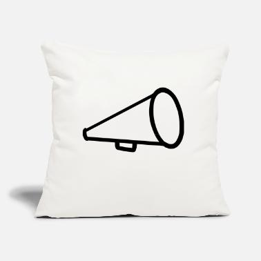 "Cheerleader Megaphone One - Throw Pillow Cover 18"" x 18"""