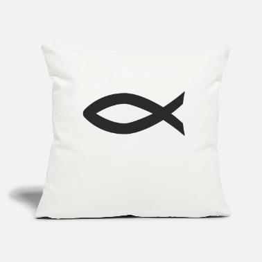 "Christian Christian fish symbol - Throw Pillow Cover 18"" x 18"""