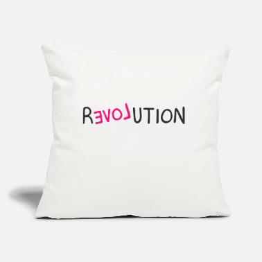 "Revolution Revolution - Throw Pillow Cover 18"" x 18"""