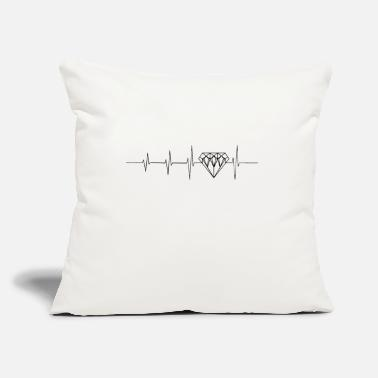 "Luxury Heartbeat for luxury - Throw Pillow Cover 18"" x 18"""